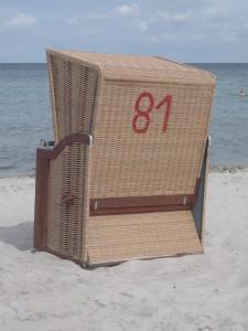 Rückansicht eines Standkorbes mit der Nummer 81